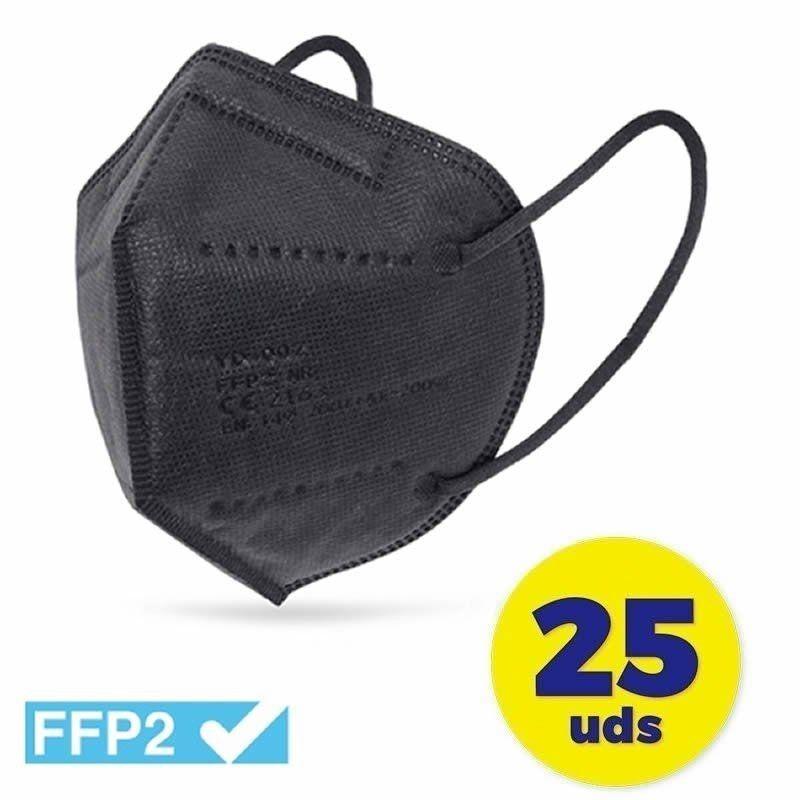 Mascarillas FFP2 Club Náutico Negro 25 Unidades