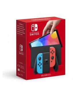 Nintendo Switch OLED Azul Neón - Rojo Neón